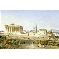 poster 90 x 60 cm akropolis zur zeit des perikles von ludwig lange artothek