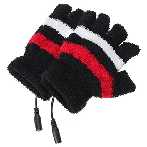 TININNA Sin dedos guantes de Mujeres de invierno más cálido con USB