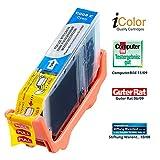 iColor Pixma IP 4200, Canon: Patrone für CANON (ersetzt CLI-8C), mit CHIP cyan (Pixma IP 6600 D, Canon)