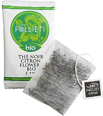 FOLLIET Thé Noir Bio Citron Flower x 24 Sachets Individuels