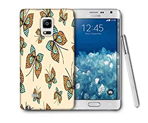 Snoogg Colorful Butterfly Printed Protective Phone Back Case Cover For Samsung Galaxy NOTE EDGE