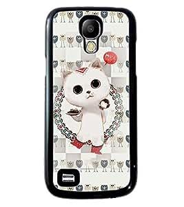 Printvisa 2D Printed Cat Designer back case cover for Samsung S4 Mini - D4266