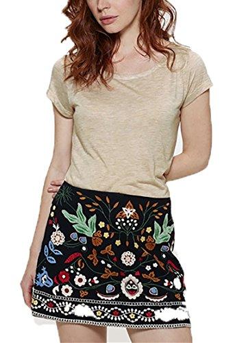 YTWOO Damen T-Shirt Aus 100% Modal, Damen Shirt mit U-Ausschnitt, Leichtes Damen T-Shirt Aus Naturfasern, Zellolusefaser (M, Mid Heather Beige) (Beige Heather Stoff)