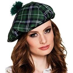 Boina escocés verde