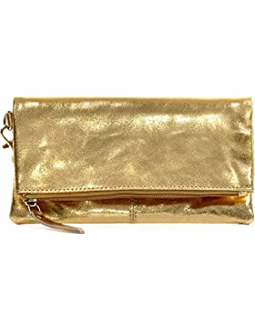 CNTMP, Damen Handtaschen, Clutch, Clutches, Clutchbags, Unterarmtaschen, Partybags, Trend-Bags, Metallic, Leder...