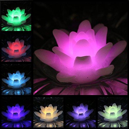 ARDUX - Velas LED flotantes, Cera de Color Lila Impermeable, Vela, Vela, Vela, Vela, Vela, Vela, sin Llama, Funciona con Pilas, para decoración de Bodas y Fiestas (Paquete de 4), Pack de 4