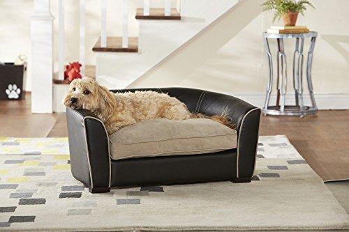 Artikelbild: Hundesofa 'Jim', schwarz/beige