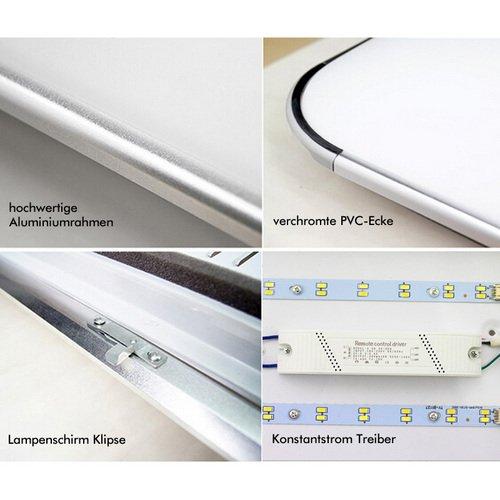 Hengda® 24w LED Deckenleuchte Warmweiß und Weiß – Deckenleuchte LED -> Led Deckenleuchte Warmweiß