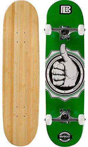 Bamboo Skateboards a-okay Graphic 19,7cm komplett Skateboard Bambus, Natur, mittel