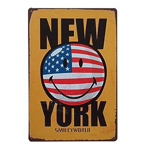 UQ Plaque Métallique Vintage Rétro 20x30cm Slogan pub Tableau métal,