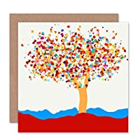 Wee Blue Coo Love Heart Leaves On Tree - Valentines/Occasion Card