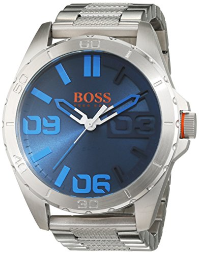 Hugo Boss Orange Berlin Men's Quartz Analogue Classic Silver Stainless Steel Bracelet 1513382