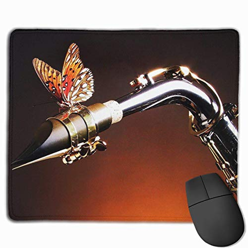 pad-Matte, Smooth Mouse Pad Butterfly Sax Mobile Gaming Mousepad Work Mouse Pad Office Pad ()