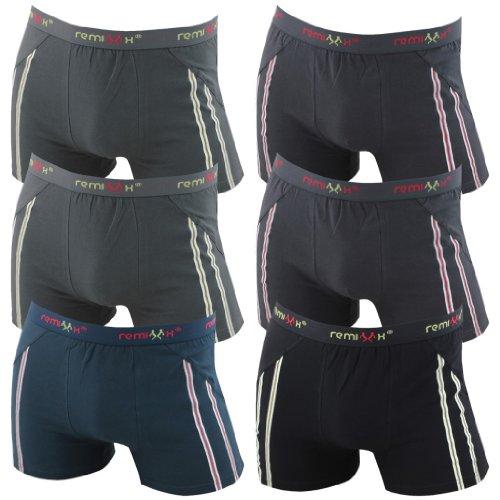 6er Pack Herren Retroshorts Boxershorts schwarz dunkelblau & mix M L XL oder XXL Mehrfarbig