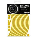 VFLUO Circular™, Kit de Cintas, Rayas Retro Reflectantes para Llantas de Moto (1 Rueda), 3M Technology™, Anchura XL : 10 mm, Oro