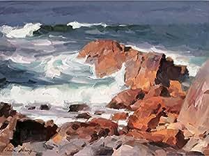 Vitalwalls Landscape Painting (Landscape-104-F-30, Canvas Print, 30 cm x 22.2 cm)
