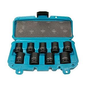 Makita P-46953–Set de llaves de vaso de impacto, 9piezas, multicolor