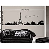 Decals Design 'Eiffel Tower Paris' Wall ...