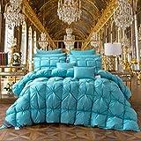Qijamfen Bedding Bettdecke 100% Baumwollgewebe Atmungsaktive und Hautsympathische Doppelt,Blue,180 * 220cm-3kg