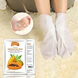 Hunpta Papaya Hot rimuovere pelle morta cuticole Foot Mask peeling piedi Heel Care anti invecchiamento bianco White