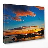 Bild auf Leinwand Canvas–Gerahmt–fertig zum Aufhängen–Tramondo Kanada Dimensione: 30x40cm A - Senza Cornice
