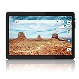 Tablet 10 pollici Android 9.0 Pie, con due slot per schede SIM, 1280 x 800 HD IPS, 2 GB RAM, 32 GB di memoria, Quad Core, 6000 Amh, doppia fotocamera, certificato GMS, 2.4 G WiFi/BT 4.0