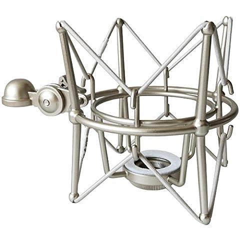 KEEPDRUM MS088SV Silber Mikrofon-Spinne elastische Halterung für Rode Mikrofone NT1-A Podcsater Procaster
