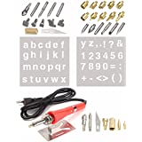 HITSAN 37pcs Wood Burning Pen With Extra Tips And Stencils - Deluxe Craft And Hobby Kit One Piece