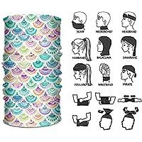 Rghkjlp Headband Watercolor Mermaid Scales Outdoor Multifunctional Headwear 16 Ways to Wear Your Magic Headwear Scarf Outdoor17