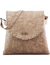 Serra Paris Women's Sling Bag (Available In Dark Tan, Peach, Light Brown, Rose Pink, Sand, Beige & Yellow) (Beige)