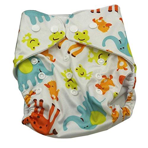Aivtalk Pañal de Tela TPU Transpirable Lavable Niños Niñas Bebés Cloth Diaper...