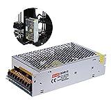 Aibecy Alimentazione per Stampante 3D - AC 110V/220V to DC 12V 240W 20A Accessorio per Stampanti 3D ,Trasformatore Adattatore Centralizzato di Monitoraggio a Doppio Ingresso per il Kit di Stampante 3D