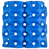 HALOViE Sitzkissen Rollstühle Aufblasbares Kissen Antibakterielles und Atmungsaktives Antidekubitus-Kissen 25 Löcher lindert Schmerzen aus PVC 47 x 47 cm
