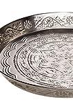 Orientalisches Vintage Teetablett aus Metall