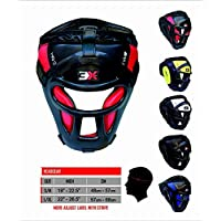 3X Professional Choice Grill Head Guard Bar Maya Hide Synthetic Rex Leather Boxing MMA Protector Headgear UFC Fighting Full Face Head Guard Sparring Helmet