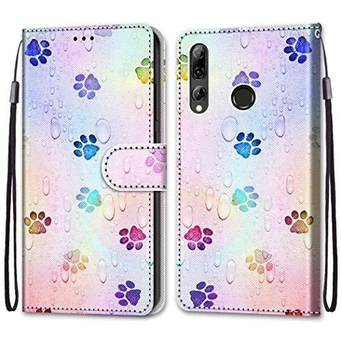 Nadoli Bunt Leder Hülle für Huawei Honor 20 Lite,Cool Lustig Tier Blumen Schmetterling Entwurf Magnetverschluss Lanyard Flip Cover Brieftasche Schutzhülle mit Kartenfächern
