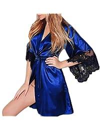 Kimono Batas Mujer, ❤️ Modaworld Babydoll de Vestido de Kimono Sexy para Mujer Lencería de Encaje Ropa de baño Robe bañador de baño Camisón Dormir Pijamas