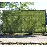1 x Bauzaunplane, Bauzaun, Sichtschutz, Sichtschutzplane, Bauzaunblende, 1,76 x 3,41m, 150g/m², grün (1,07 EUR/m²)