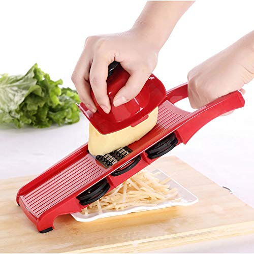 KHKJ Vegetable Cutter with Steel Blade Mandoline Slicer Potato Peeler Carrot Cheese Grater Vegetable Slicer Kitchen Accessories Tool -
