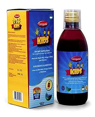 Ceregumil Kids Vitamins Rich in Vitamin D3 to HELP Teeth and Bones Growth + Vitamin C, Vitamins D3, Thiamine Vitamin B6 and Vitamin B12 ( Methylcobalamin B12 ), Immune Booster w/ Algae Omega 3 DHA EPA Supplement Complete Liquid Children Multivitamins With
