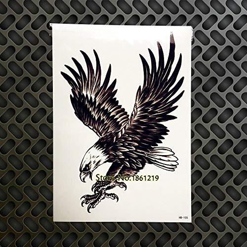 tzxdbh 2 Stücke Heißer Flying Eagle Tattoo Frauen Männer Große Körper Brust Tattoo Sleeve Gb105 Wandaufkleber Sommer Hawk Tatoo Taty -