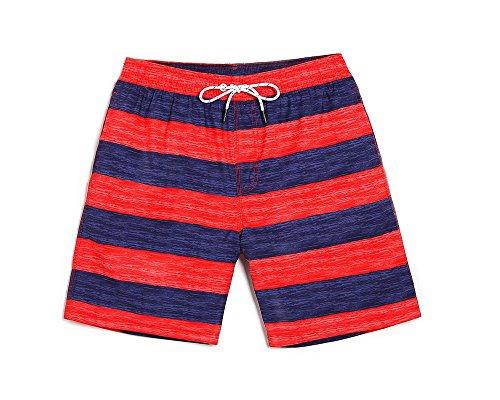 adfdd55dd763 Lantra Besa Rot-Blau Gestreift Wasserabweisende Schnelltrocknende Damen  Herren Jungen Kinder Mädchen Badehose Badeshorts Boardshorts