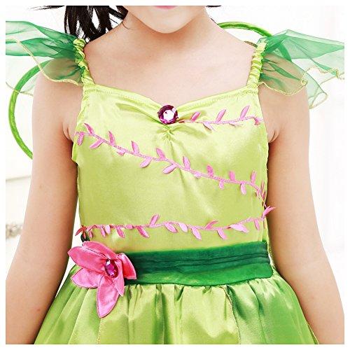 Imagen de m&a disfraz de campanilla para niña verde 110/116 talla del fabricante l  alternativa