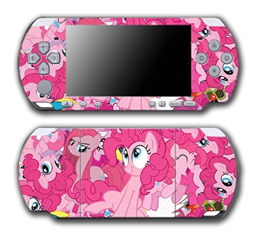 My Little Pony Friendship is Magic MLP Pinkie Pie Video Game Vinyl Decal Skin Sticker Cover for Sony PSP Playstation Portable Slim 3000 Series System by Vinyl Skin Designs (Pinkie Pie Vinyl Decal)