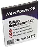 Kit de Reemplazo de la Batería para TomTom GO 910 Serie (GO 910, GO 910T) GPS con Video de...