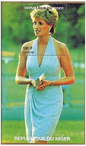 Diana princesse de Galles portrait timbre pour les collectionneurs - feuille miniature / Niger / 1997
