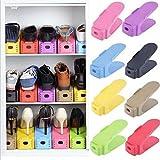 Wishpool Display Rack Shoes Organizer Space-Saving Plastic Storage Rack (Multicolour) (Set Of 3)