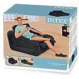 Intex Aufblasmöbel Ausziehbarer Sessel Pull-Out Chair, Grau, 107 x 221 x 66 cm - 5