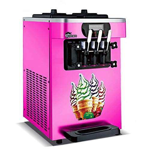 Automatische Softeismaschine kommerzielle Drei-Farben-Eismaschine Kegelmaschine Eismaschine