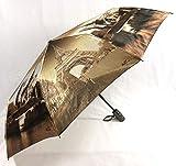 Eiffelturm Auto Open & Close Faltbarer Regenschirm, Luxus winddicht Regenschirm 925
